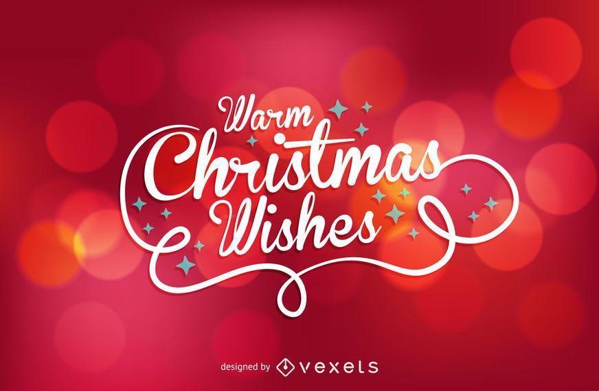 Christmas wishes over bokeh