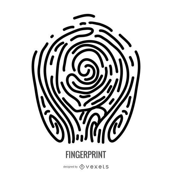 Abstract fingerprint illustration
