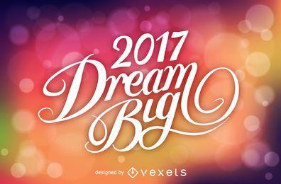 Desejos de Ano Novo sobre o bokeh