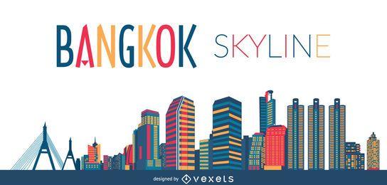 Bangkok skyline silhouette