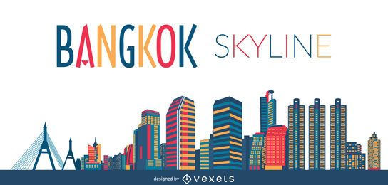 Silhueta do horizonte de Bangkok