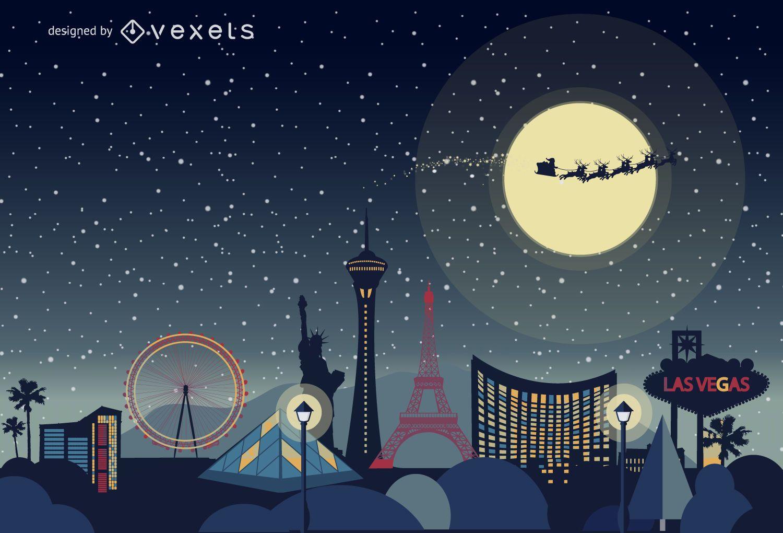 Las Vegas Christmas skyline