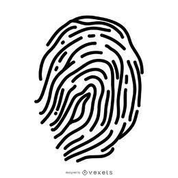 Minimalistischer Fingerabdruck Silhouette