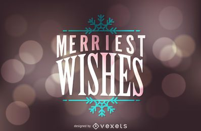 Merriest wishes design