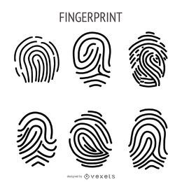 Fingerprint illustration set
