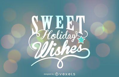 Etiqueta de Natal de desejos de férias