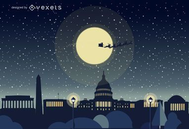Washington Christmas skyline