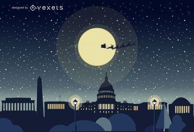 Washington Weihnachtsskyline