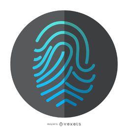 Icono de identificación de huella digital