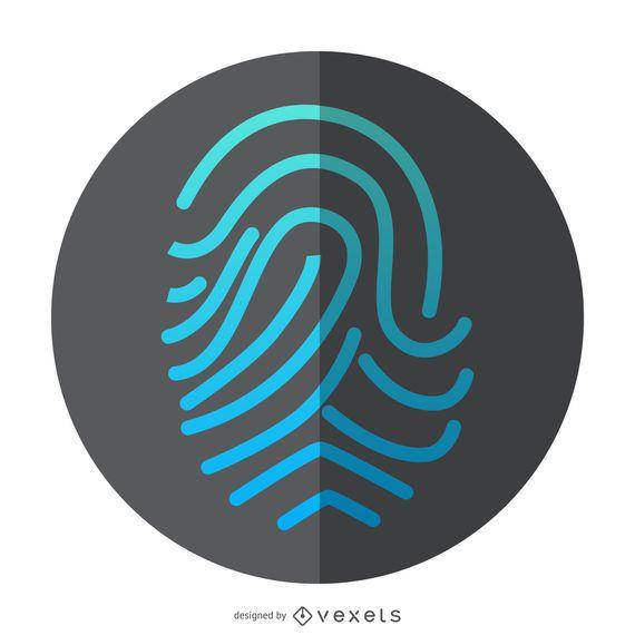 Ícone de identificação de impressão digital