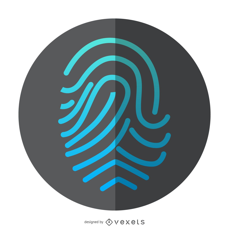 Icono de identificaci?n de huella digital