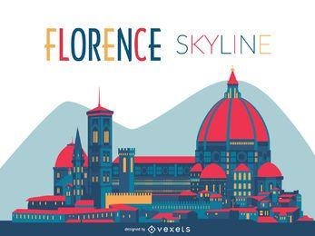 Florence silhueta skyline