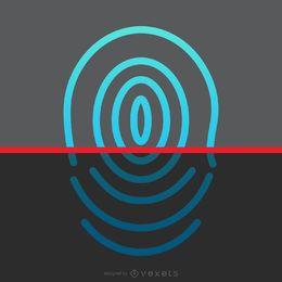 Diseño de escaneo de huellas dactilares