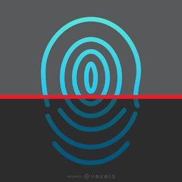 Fingerabdruck-Scan-Design