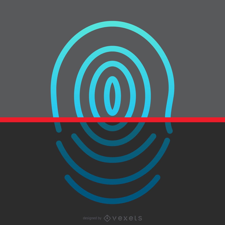 Fingerprint scan design