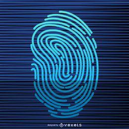 Ilustración de escaneo de huellas dactilares