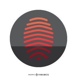 Red fingerprint icon