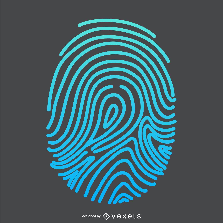 Gradient fingerprint illustration