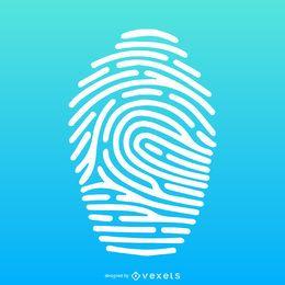 Fingerabdruckillustration über Steigungsschattenbild