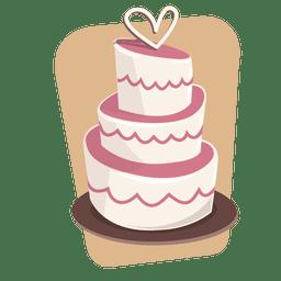 Bolo de casamento de sobremesa