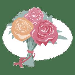 Romance de casamento bouquet de flores