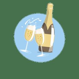 Festa de celebração beber champanhe