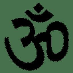 Budista, aum, símbolo, ícone