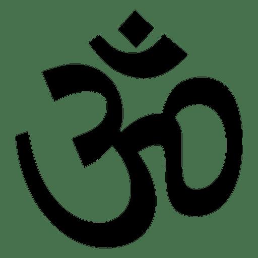 Ícone de símbolo de aum budista