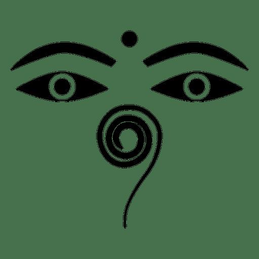 Icono de ojos de buda budista
