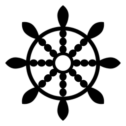 Buddhistisches Dharma-Rad-Symbol