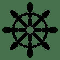 Icono de la rueda del dharma budista