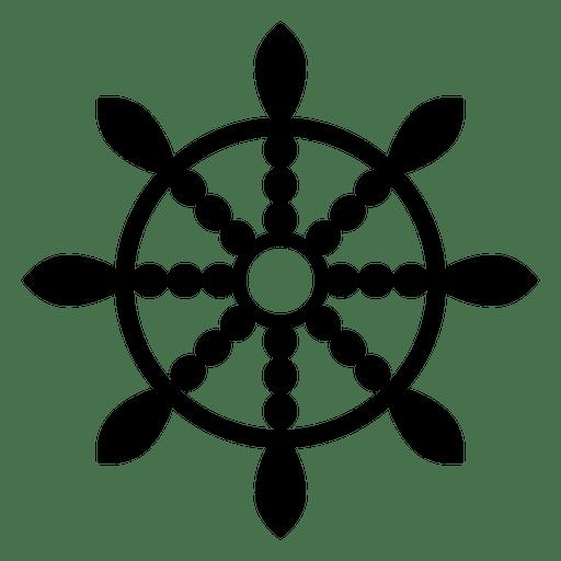 Icono de rueda de dharma budista Transparent PNG