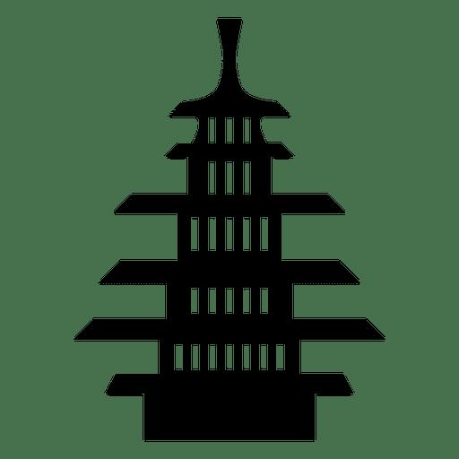 Buddhistische Pagode-Symbol Transparent PNG