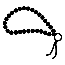 Buddhist prayer beads icon