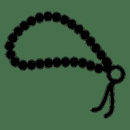 Buddhistische Gebetskette-Symbol