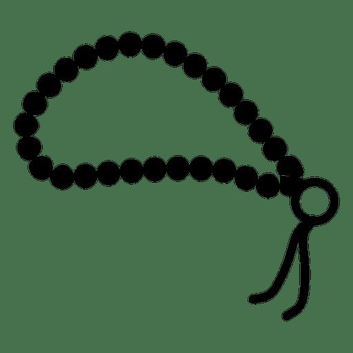 Icono de cuentas de oración budista Transparent PNG