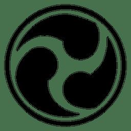 Icono de tres joyas budistas