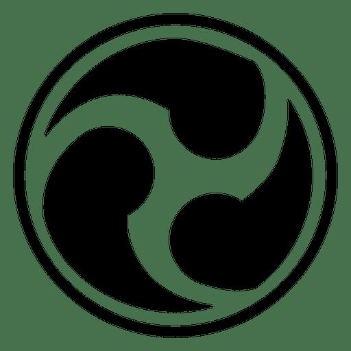Ícone de três joias budistas