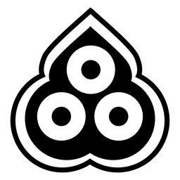 Buddhistisches Ikonenschattenbild mit drei Juwelen