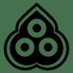 Silhueta de ícone de três jóias budista