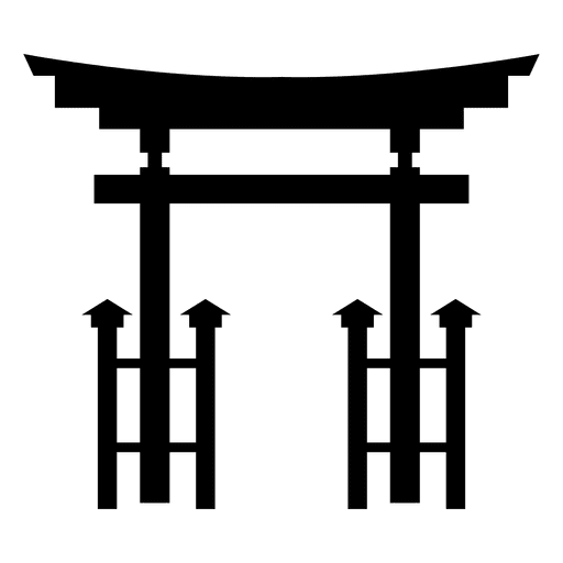 Icono torii budista Transparent PNG