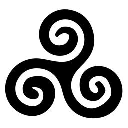 Buddhist triskelion icon