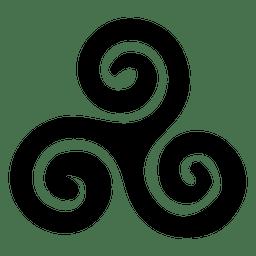 Buddhistisches Triskelion-Symbol