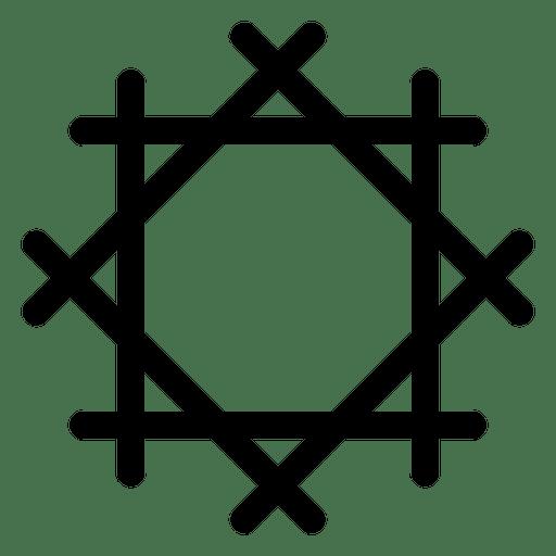 Icono de rueda budista Transparent PNG