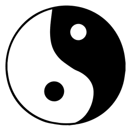 Buddhistische Yin-Yang-Ikone