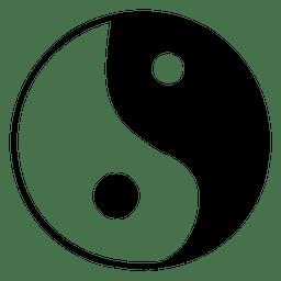 Ícone de yang yin budista