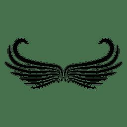 2 alas abstractas de logo abierto