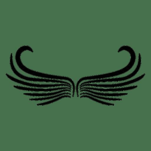 2 alas abstractas con logo abierto