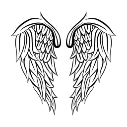 2 detailed wing silhouette