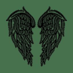 2 silueta de ala detallada